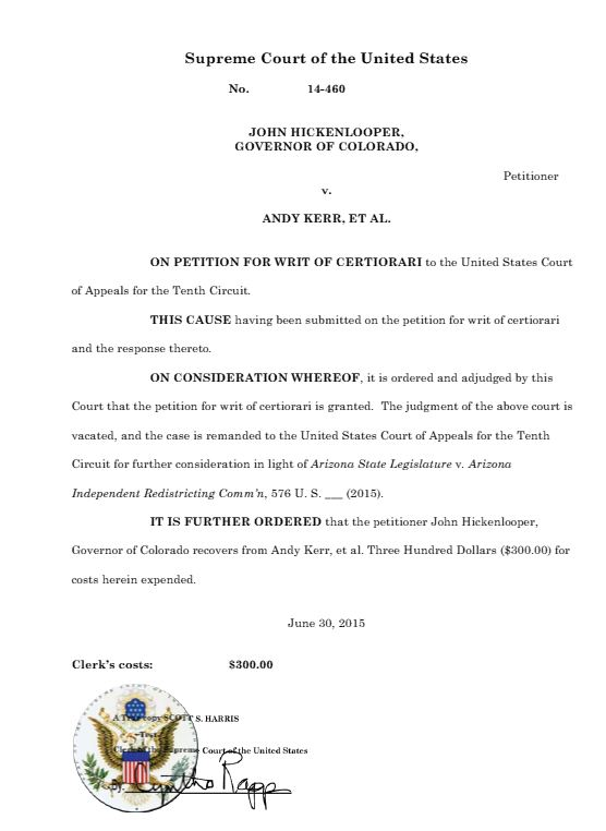10th Circuit Rules That District Courts >> Pleadings Orders Of Court Tabor Case Org